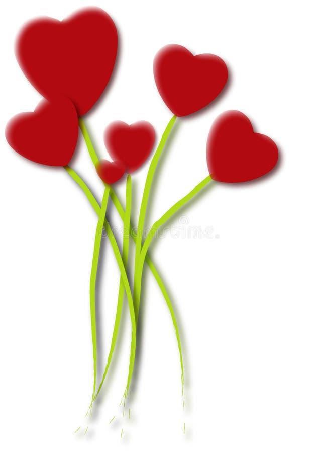 Bunch of hearts vector illustration