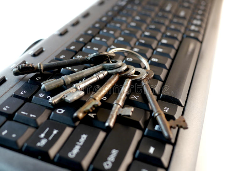 Bunch of keys on keyboard. Big bunch of keys on keyboard stock photography