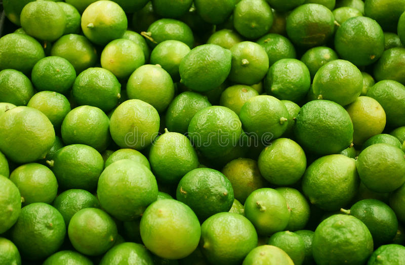 Bunch of limes stock photos