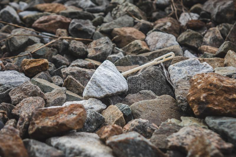 A bunch of little stone mountain of rubble. Crushed, gravel, material, rock, background, mineral, pattern, road, rough, texture, aggregate, ballast, abstract stock photos