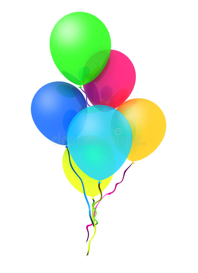 Free Bunch Of Happy Flying Balls Stock Photos - 17643493