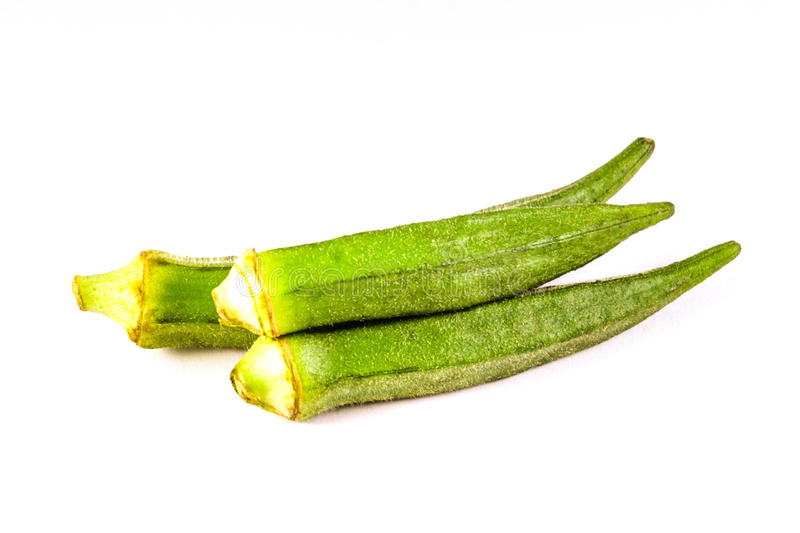 Bunch of Okra. Small bunch of Okra, a green colored vegetable royalty free stock image