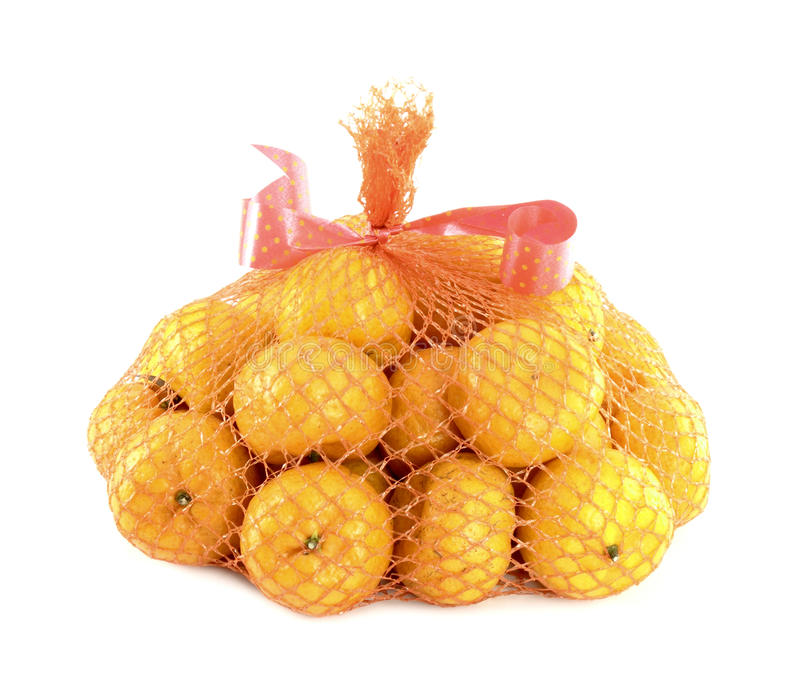 A bunch of oranges packaged stock photography