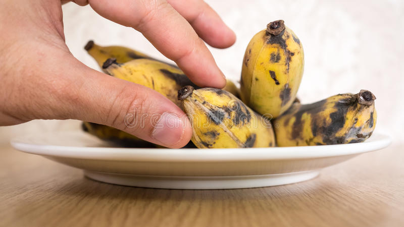 Bunch of overripe banana. royalty free stock image