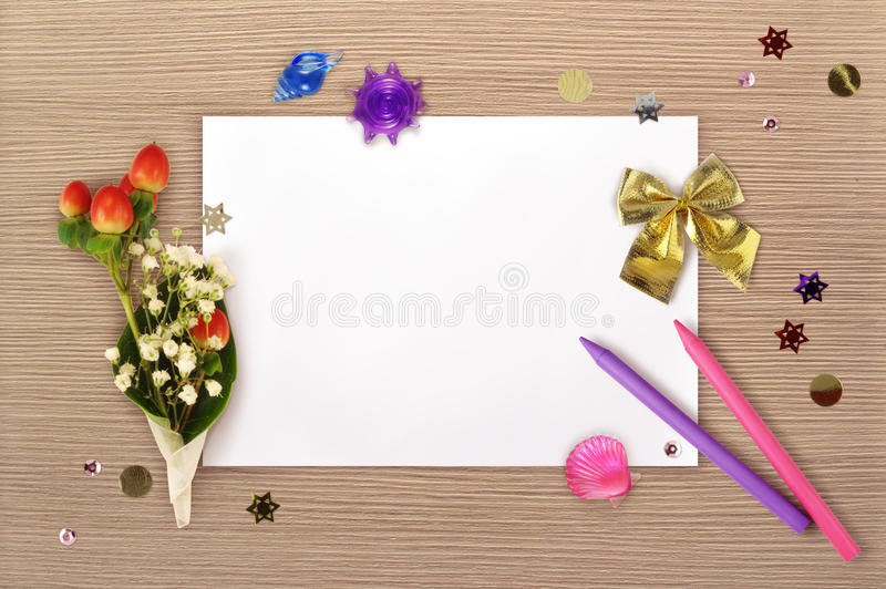 The bunch and the paper stock photography