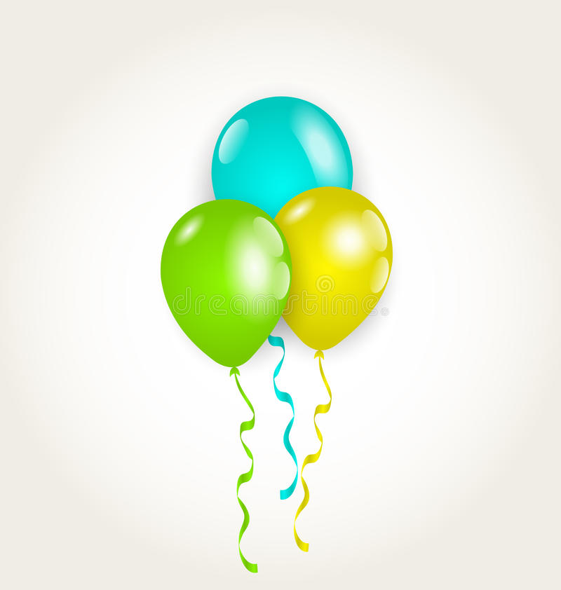 Bunch party balloons for your birthday royalty free illustration