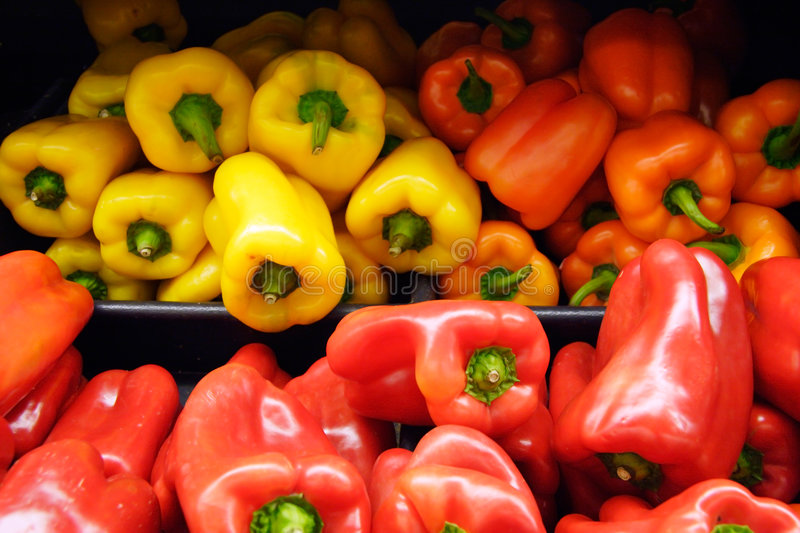 Bunch of peppers stock image