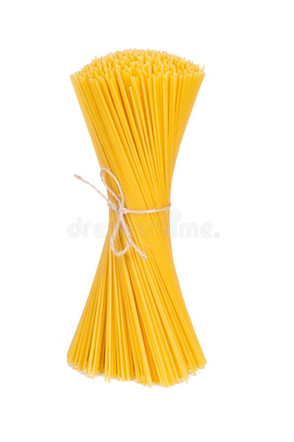 Bunch of italian pasta isolated on white background royalty free stock photography