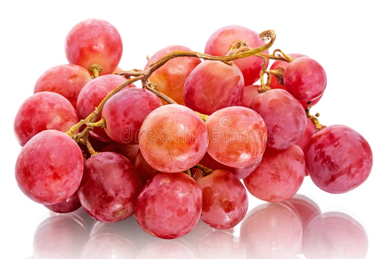 Bunch of red grapes stock photo