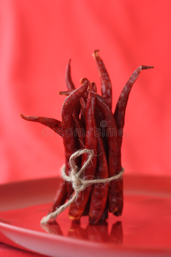 Bunch of red hot chilli pepper royalty free stock photos