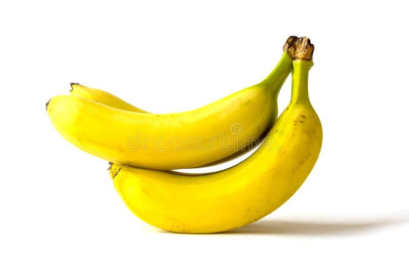 Bunch of ripe bananas isolated on white background stock image