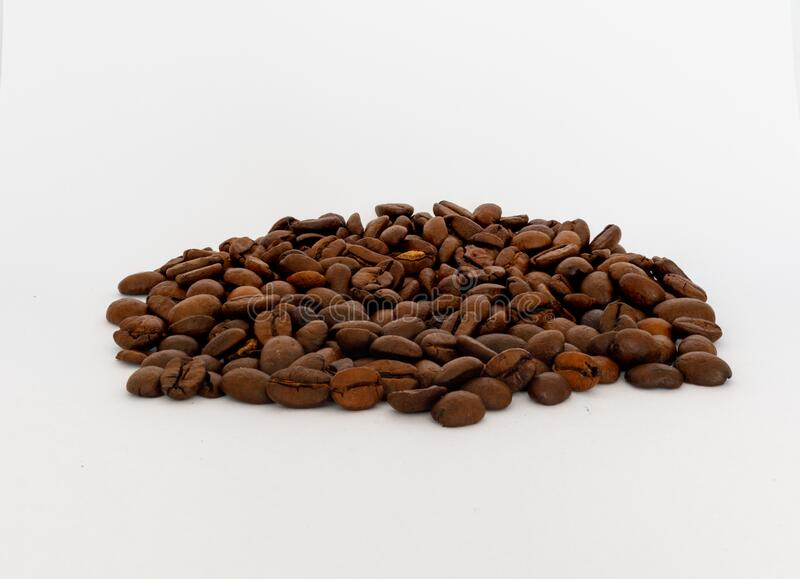 Bunch of roasted coffe beans stock photo