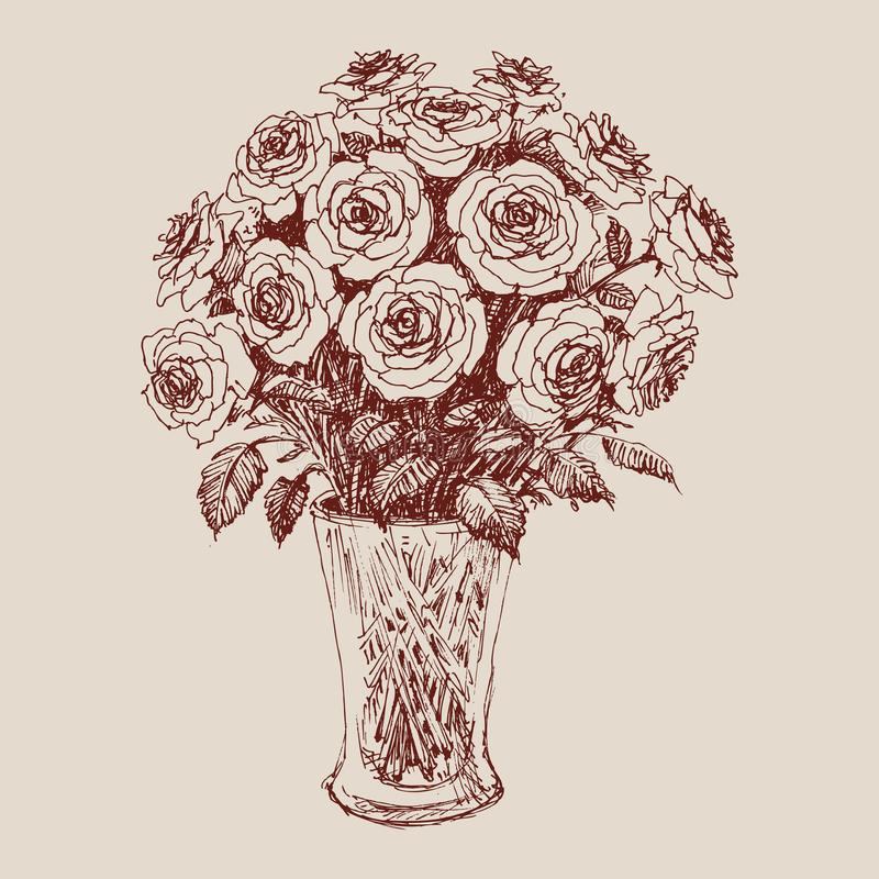 A bunch of roses vector illustration