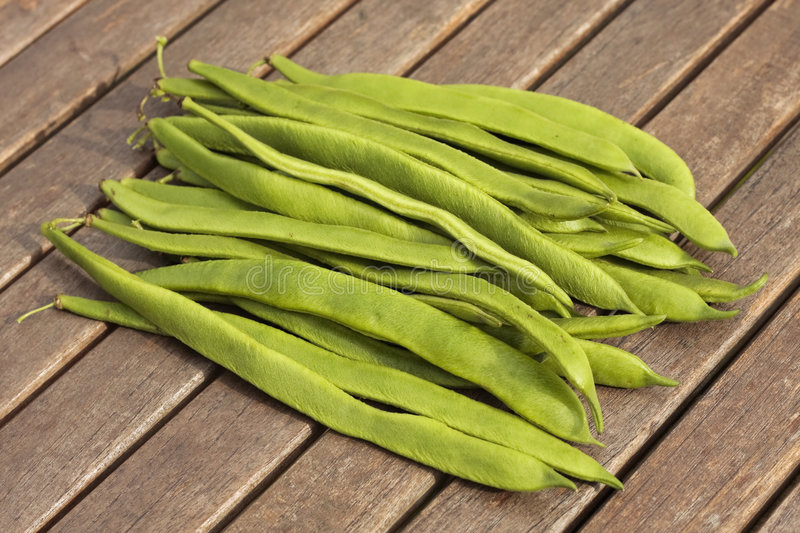 Bunch of runner beans royalty free stock photography