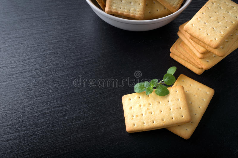 bunch of salty crackers royalty free stock photo