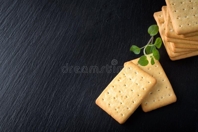 bunch of salty crackers stock photos