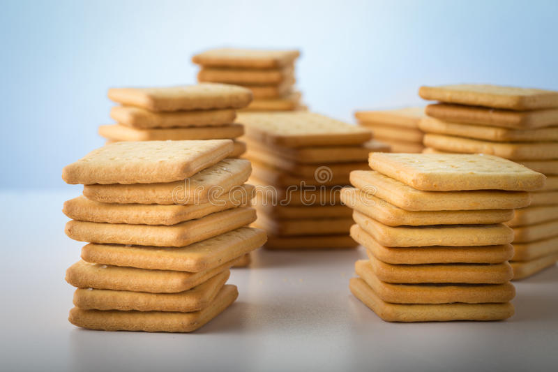 bunch of salty crackers stock photo
