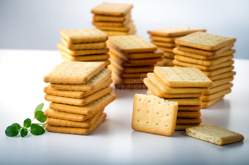 bunch of salty crackers royalty free stock photography