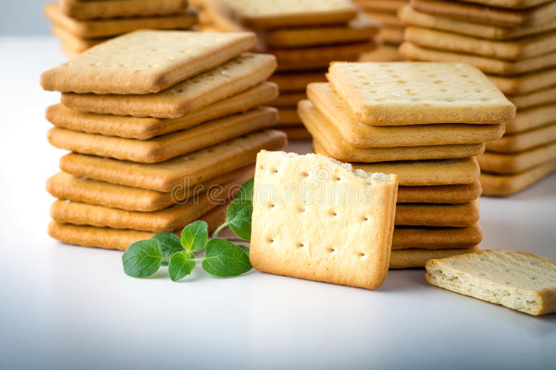 bunch of salty crackers royalty free stock images