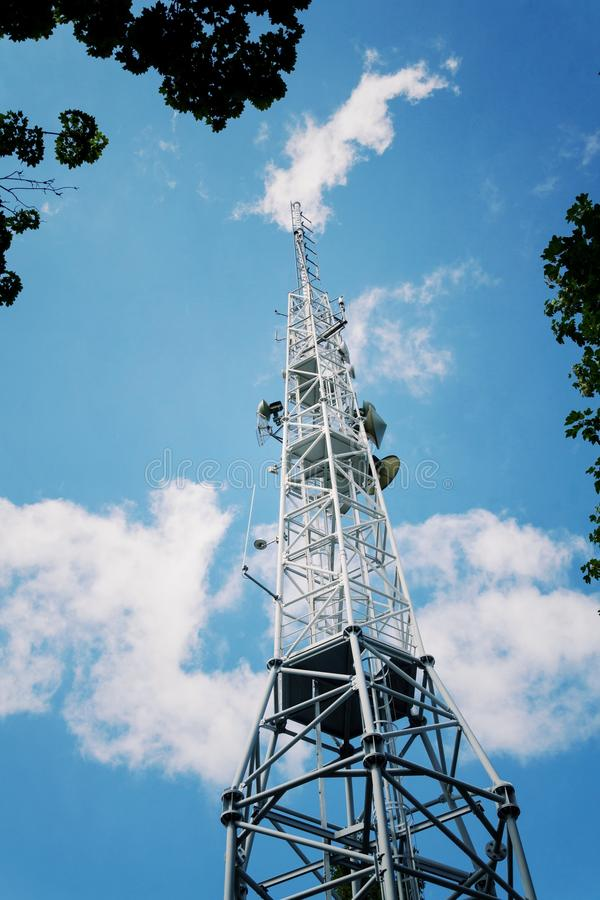 Transmitters And Aerials On Telecommunication Tower, Wireless ...