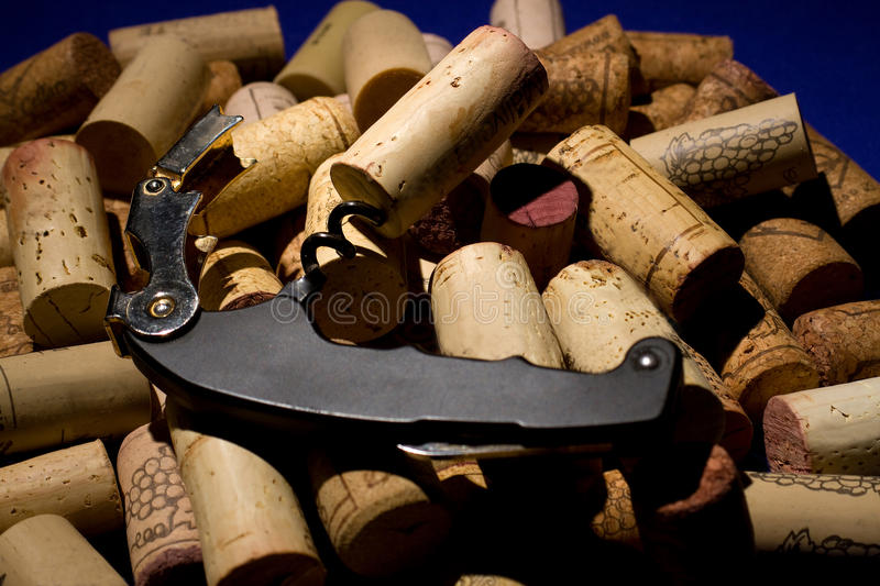 A bunch of wine corks royalty free stock images
