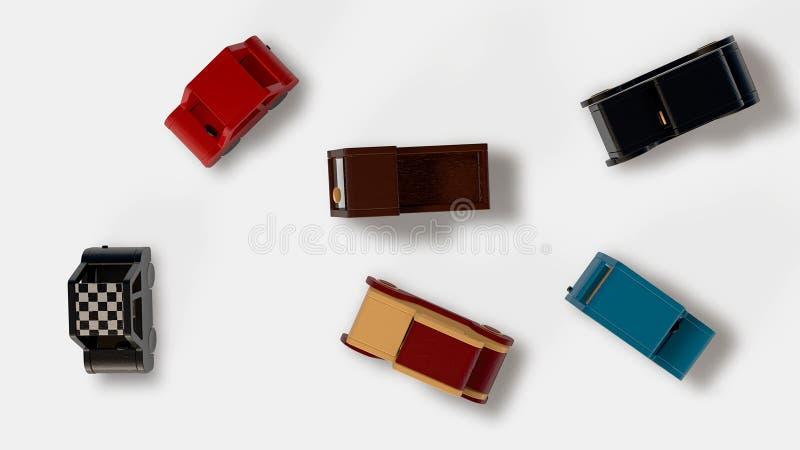 Wood cars stock illustration