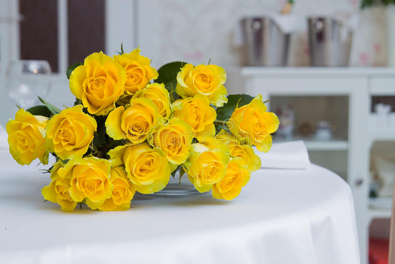 Download Bunch of yellow roses stock photo. Image of arrangement - 21889378