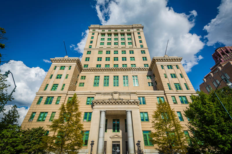The Buncombe County Court House, in downtown Asheville, North Ca. Rolina royalty free stock image