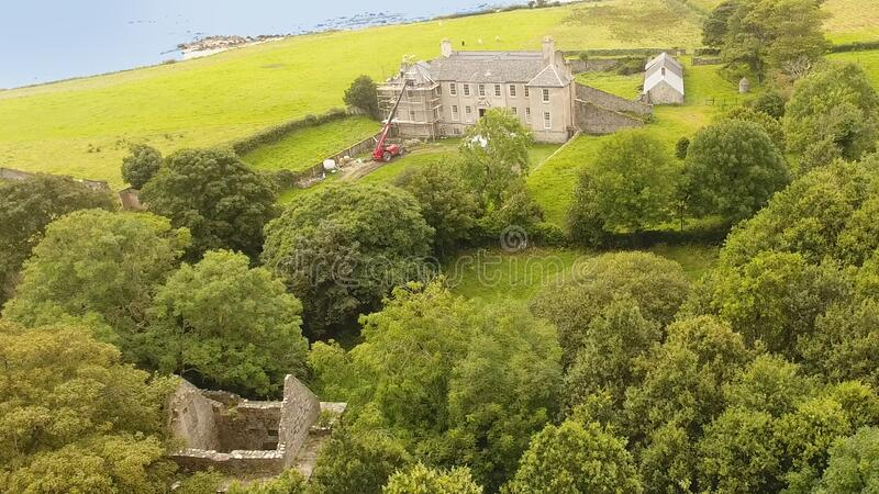 Buncrana Castle O'Doherty's Keep Donegal Ireland immagini stock libere da diritti