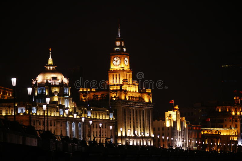The bund of shanghai stock images