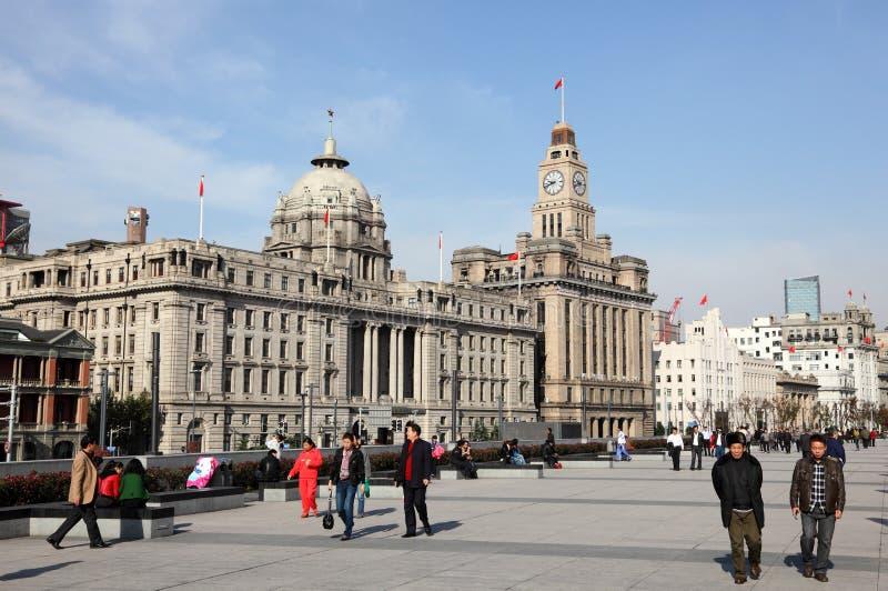 The Bund in Shanghai, China royalty free stock image