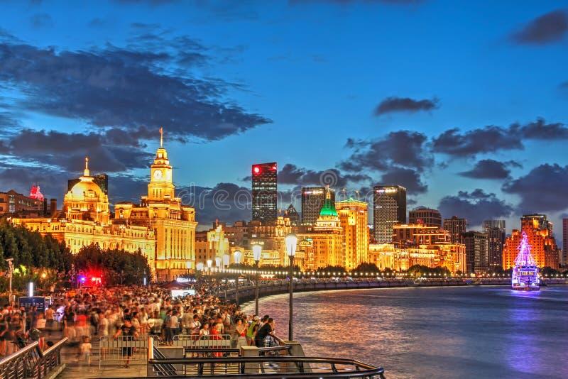 The Bund, Shanghai, China royalty free stock image