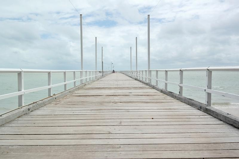Bundaberg Jetty. Long jetty near Bundaberg Australia stock images