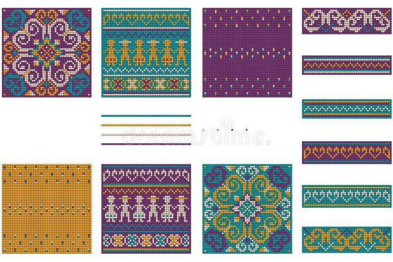 Bunddle del Año Nuevo de las abuelas para el suéter feo de la Navidad ilustración del vector