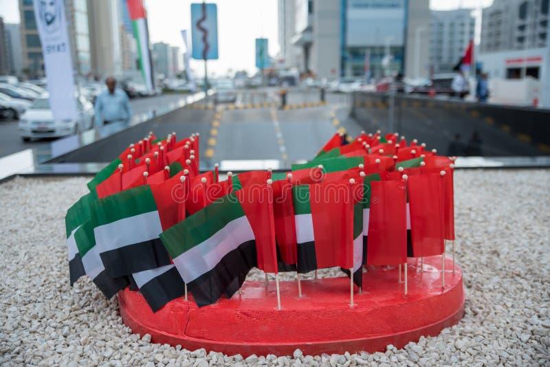 bundel van de kleine vlaggen van de V.A.E stock foto