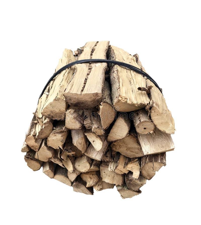 bundel van droog brandhout royalty-vrije stock foto