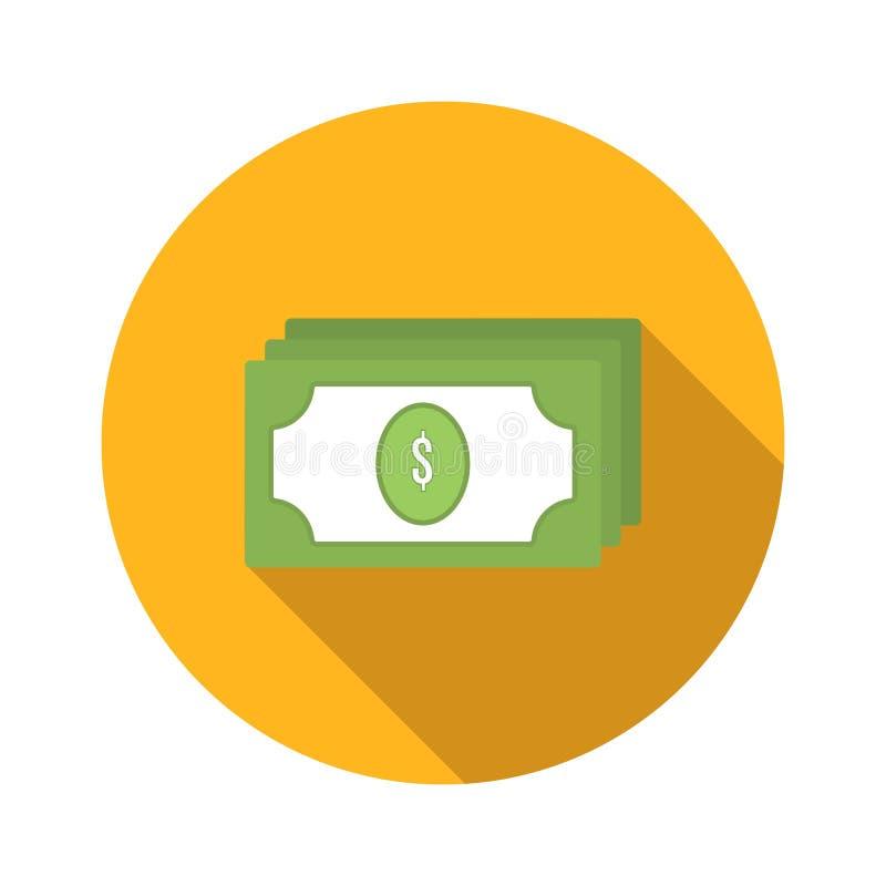 Bundel van geld vlak pictogram royalty-vrije illustratie
