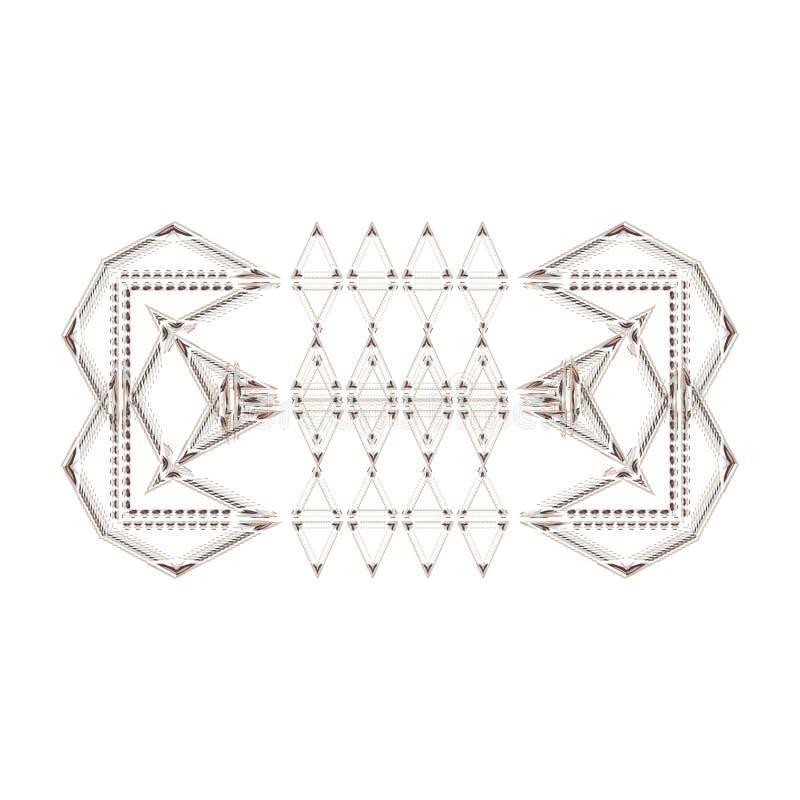 Bundel van horizontale die Webbanners met ornamenten of in geometrische patronen in etnische stijl worden verfraaid Vectorillustr stock illustratie