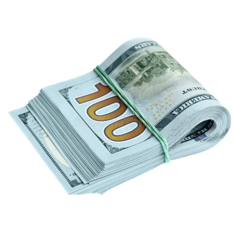Bundel van nieuwe dollars stock foto