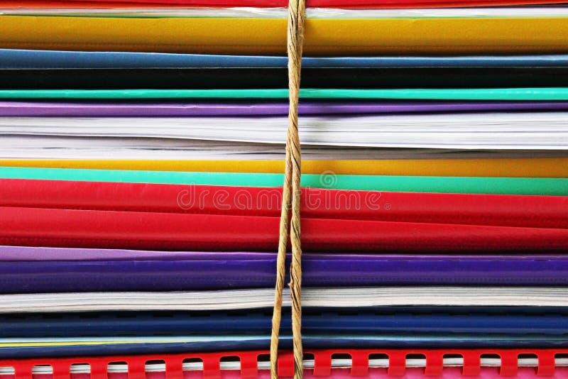 Bundel van omslagen stock afbeelding