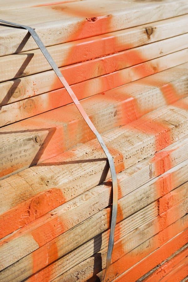 Bundel van timmerhout. royalty-vrije stock foto's