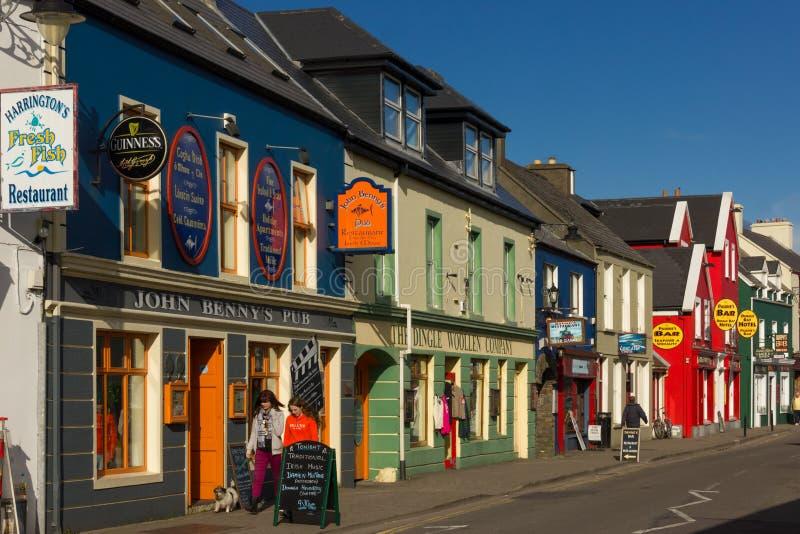 Bundelstraat dingle ierland royalty-vrije stock afbeeldingen