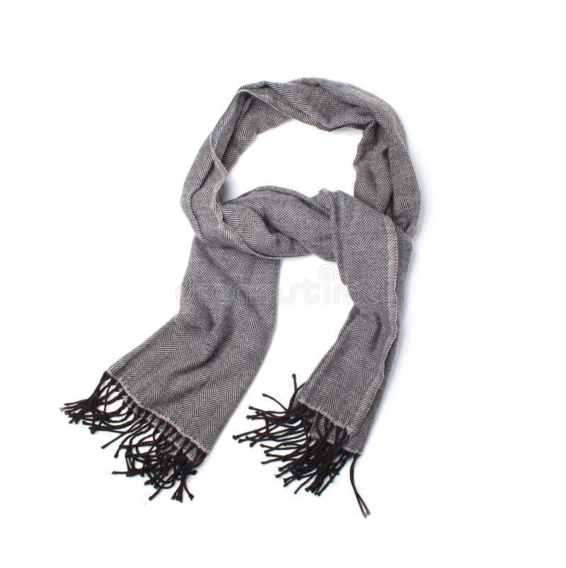 Bunden upp grå halsduk för klassiker royaltyfri bild