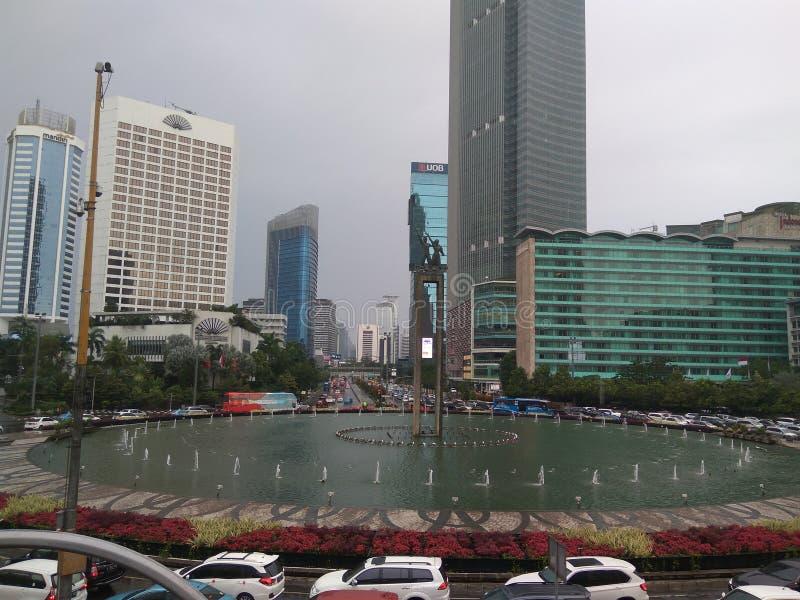 Bunderanhotel Indonesië stock foto's