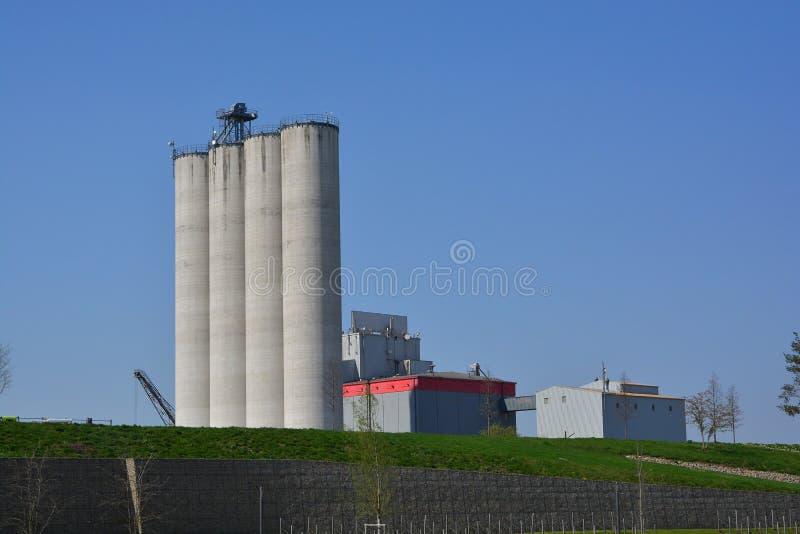 Bundesgartenschau 2019 silos d'apertura Industrie di BUGA Heilbronn Eroeffnung fotografie stock