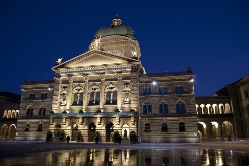 Bundeshauser, швейцарский федеральный агрегат, Bern стоковая фотография rf