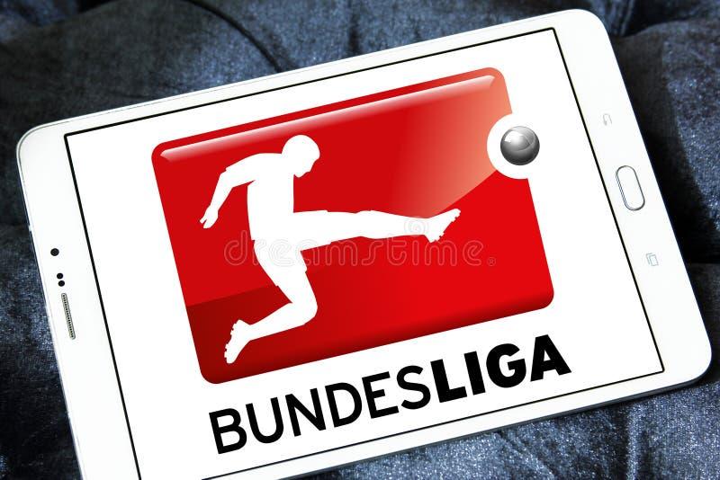 Bundesliga , german football league logo. Logo of bundesliga , german league on samsung tablet stock photos