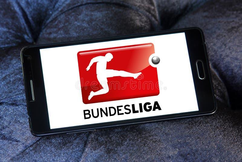 Bundesliga logo. Logo of bundesliga on samsung mobile phone. bundesliga is a professional association football league in Germany royalty free stock photography