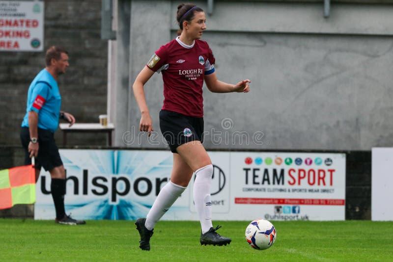 Bundesligaspiel der Frauen: Galway WFC gegen Peamount vereinigte stockfoto
