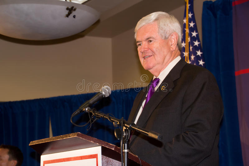 Bundesmethode Newt- Gingrich2-24-2012, Washington lizenzfreies stockbild